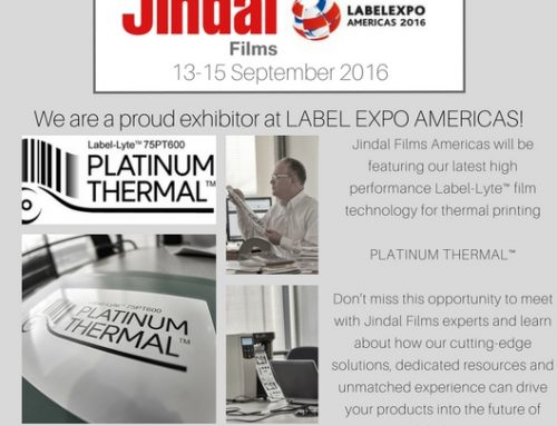Jindal Films will be exhibiting at LABEL EXPO AMERICAS September 13-15, 2016